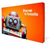 Display Pop-up Lineare in tessuto